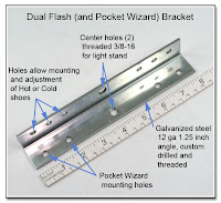 DF1042: Dual Flash Bracket - Plain Steel