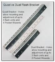 DF1043: Quad vs Dual Flash Bracket - plain Steel