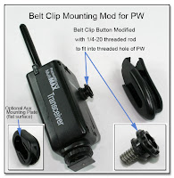 CP1089: Belt Clip & Aux Mounting Mod for PW