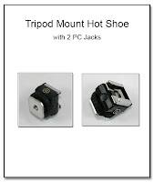 PJ1069: TripodMount Hot Shoe with 2 PC Jacks