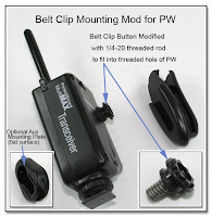 PJ1051: Belt Clip & Aux Mounting Mod for PW