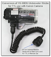 CP1084: Conversion of YS-90DX Underwater Strobe for TTL Use with Canon Camera