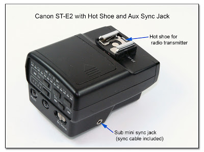 Canon ST-E2 with Hot Shoe and Aux Sync Jack