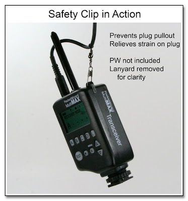 Safety Clip in Action (Pocket Wizard not Included)