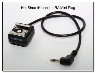 Hot Shoe (Kaiser) to RA Mini Plug