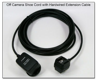 Off Camera Shoe Cord with Hardwired Extension Cable