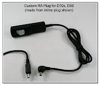 CP1058: Custom RA (Down) Plug for D70s, D80