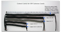 PJ1025: Coiled Cords for use with Off Camera Cords, Canon and Nikon
