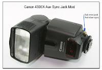AS1024: Canon 430 EX Aux Sync Jack Mod