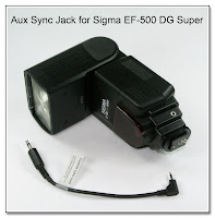 AS1029: Aux Sync Jack Mod for Sigma EF-500 DG Super Flash Unit