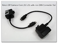 OC1032: Nikon SC-29 with Mini-DIN Connector Set Replacing Coiled Cable