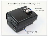 OC1002: Canon ST-E2 with Hot Shoe and Aux Sync Jack