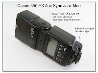 AS1033: Canon 550EX (430EX, 540EZ) EX Aux Sync Jack Mod
