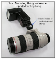 PJ1037: Flash Mounting Using an Inverted Tripod Mounting Ring
