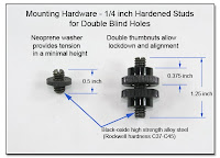PJ1030: Mounting Hardware - 1/4 Inch Hardened Studs for Double Blind holes