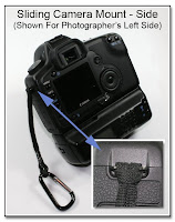 CP1099: Sliding Camera Mount - Side (Shown for Photographer's Left Side)
