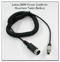 SC1017C: Leica DMR Power Cable for Quantum Turbo Battery