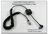 SC1017D: Leica DMR Power Cable for Tekkeon Universal Battery Pack