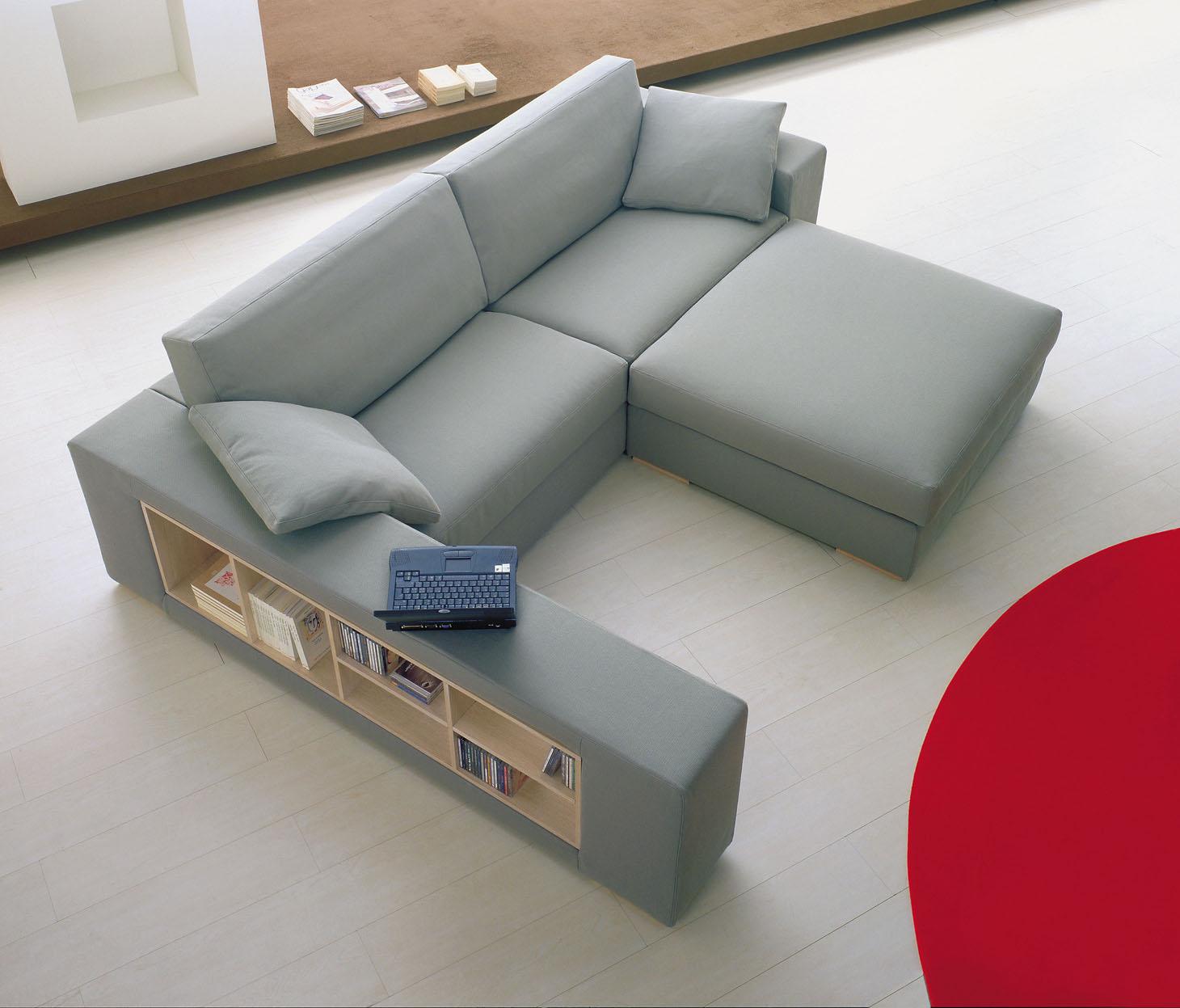 Merit divano componibile moderno in tessuto o pelle  Tino
