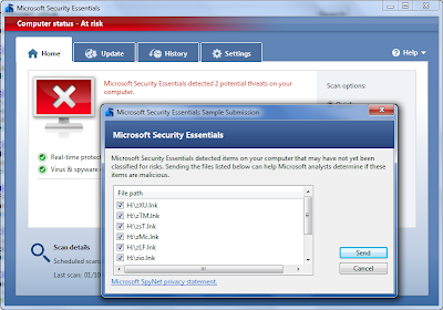Basmi Virus Shortcut dengan Microsoft Security Essentials