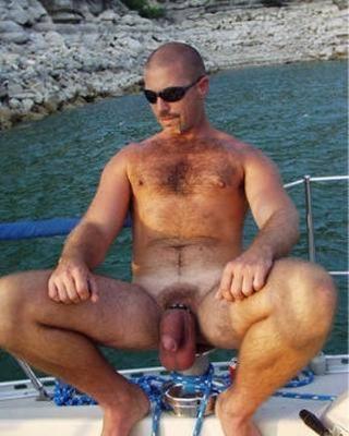 hot naked guy on boat