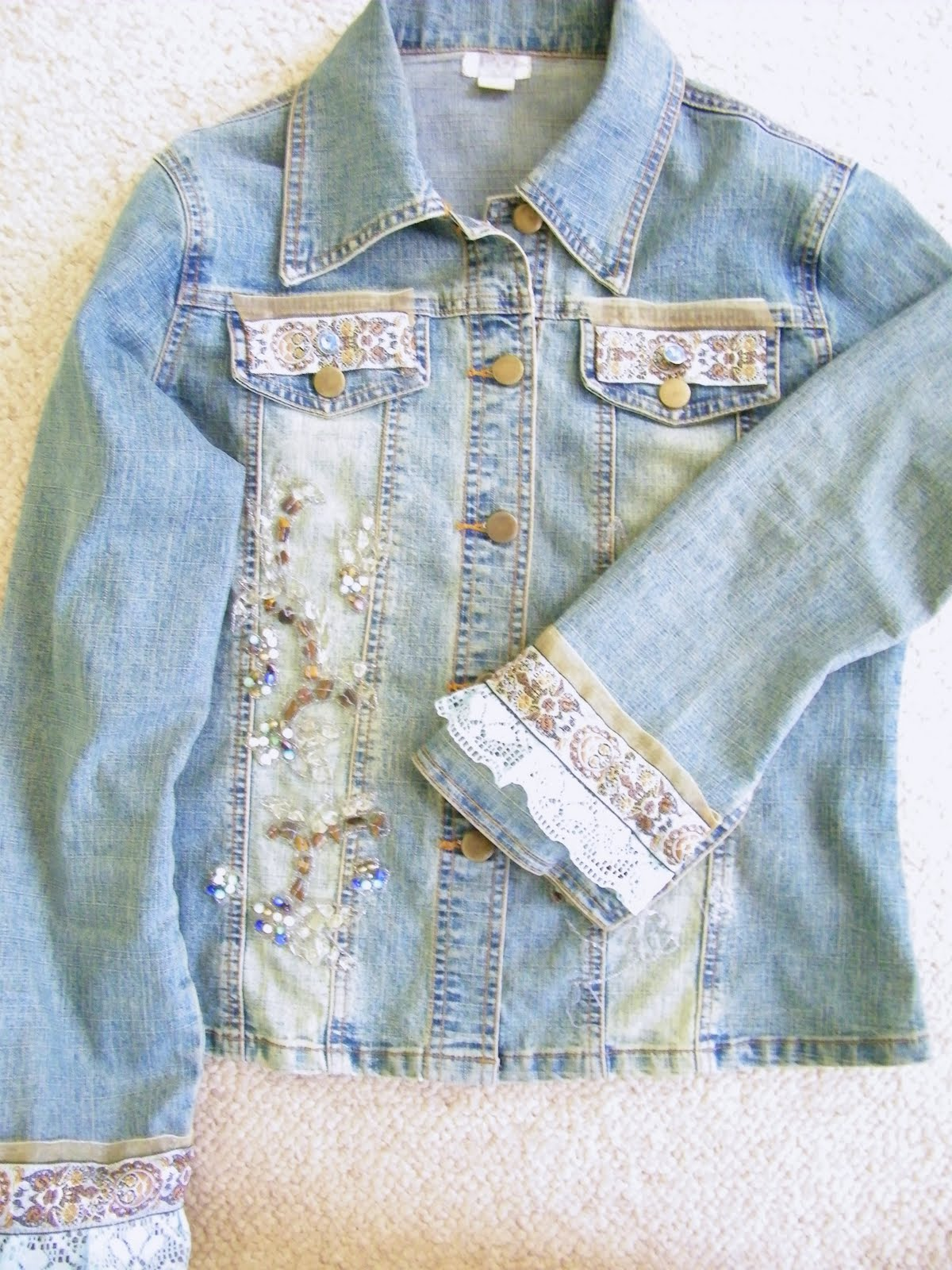 Jean Jacket With Lace Bottom