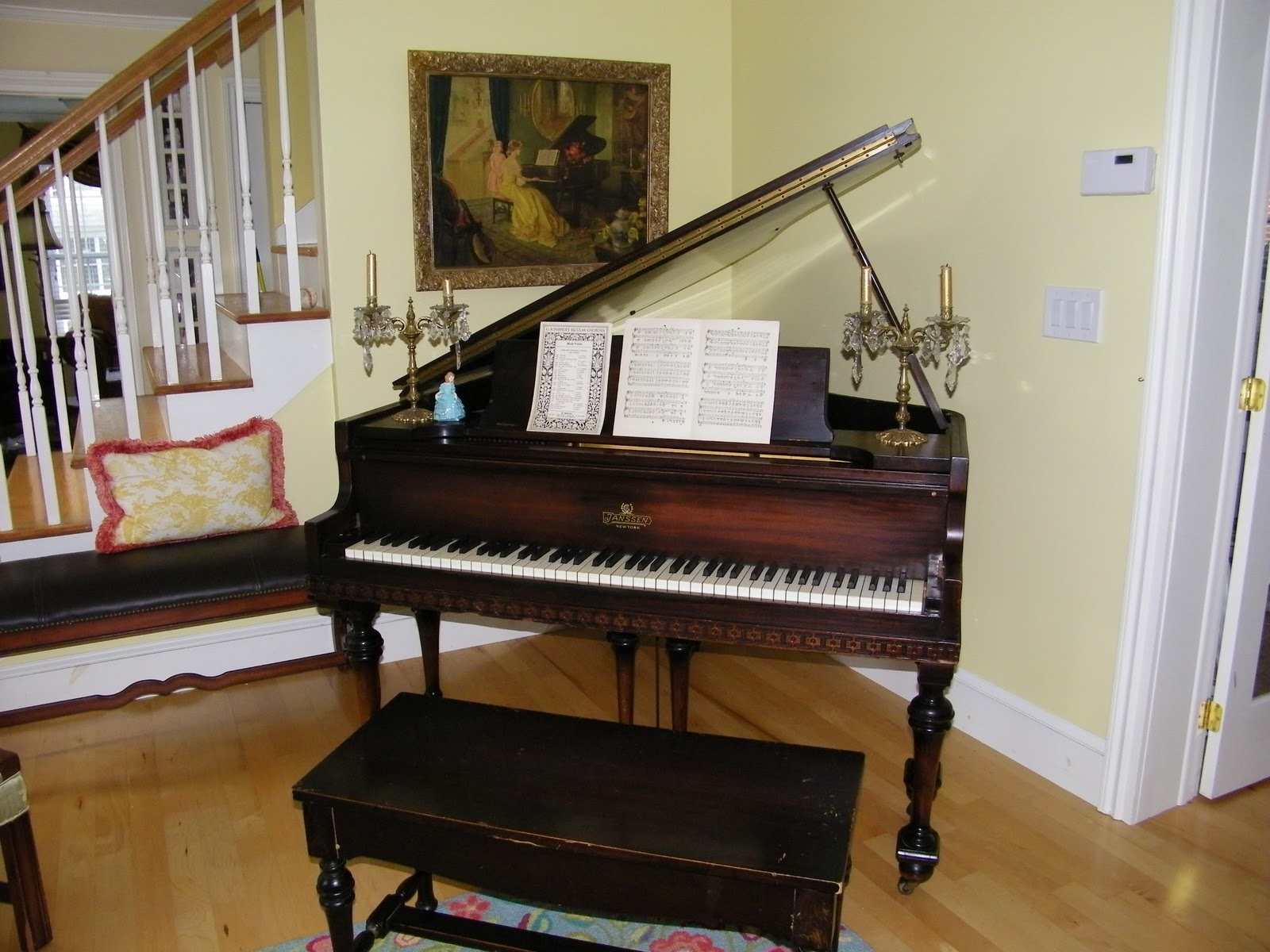 Maison Decor Our Vintage Baby Grand Piano