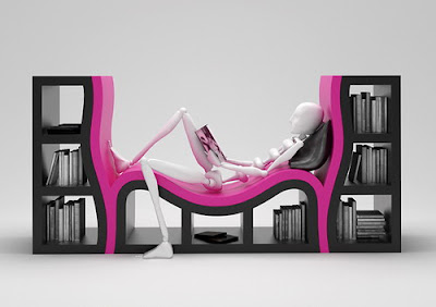 Furniture in Pink and Black colours