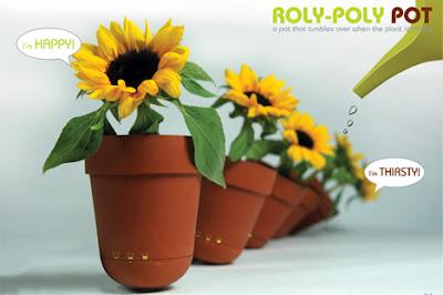 Flowerpot Roly-Poly Pot - Plants language understanding