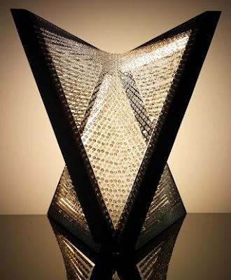 Swarovski Floor Chandelier made with 6,400 crystals