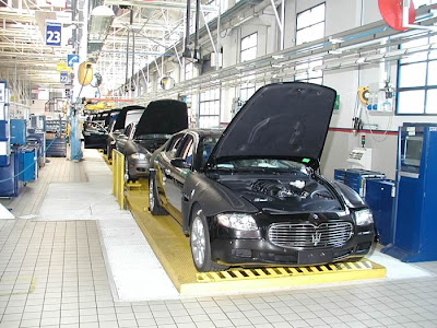 Maserati factory Italy