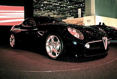 Black car - Alfa Romeo 8C Competizione