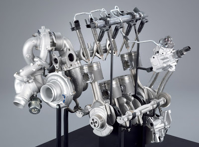 BMWs new turbo diesel 4 cylinders, 400Nm