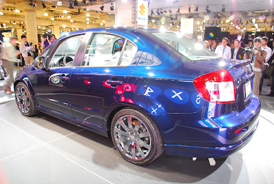 2008 Suzuki SX4 sedan at the New York Auto Show