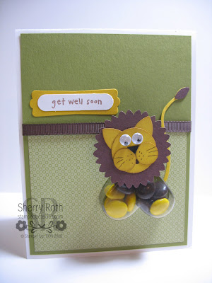 Heart Treat Cup Lion Card