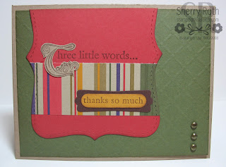 Three Little Words Card