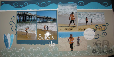 Surf's Up Scrapbook Page
