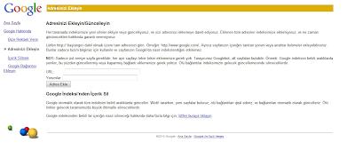 google blog adresi ekleme