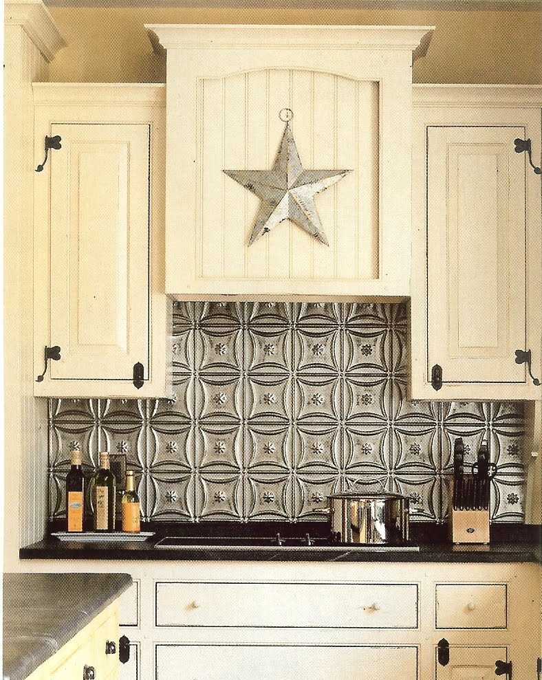 Tin Kitchen Backsplash Refacing Cost The Steampunk Home Backsplashes One Idea I Considered For My Was A Made Of Ceiling Tiles Kevin Ritter Timeless Kitchens Pointed Out Valley Works Makes New