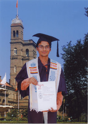 Dinesh Soni at convocation ceremony at Pune University