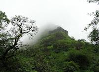 Lohagad fort near Lonawala during monsoon