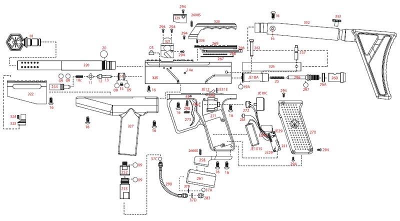 Spyder Paintball Guns: Spyder MR3 Paintball Gun Schematics