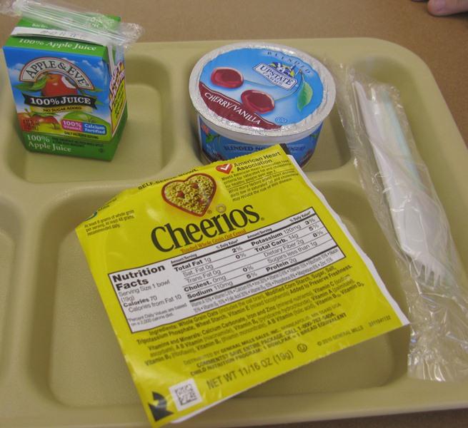 Better D.C. School Food: What's For Breakfast: Cheerios