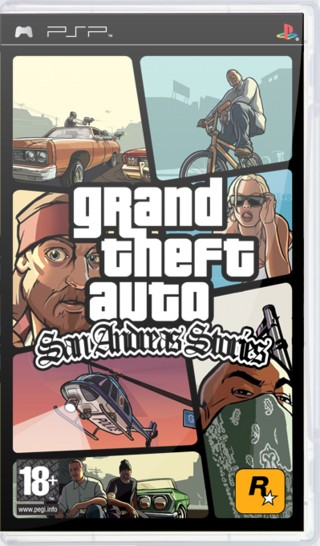 Grand Theft Auto: San Andreas Stories PlayStation 2 Box ... |Grand Theft Auto San Andreas Stories