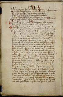 página del manuscrito de Herefordshire
