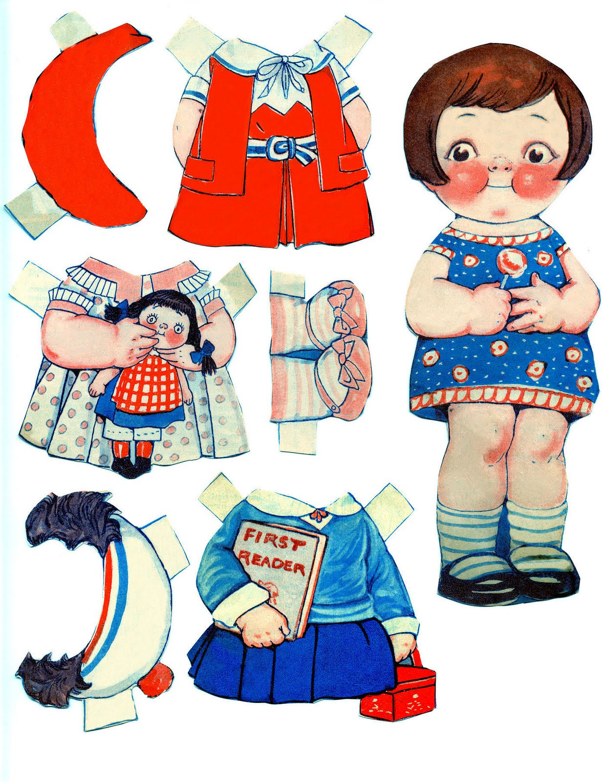 Wee Life has paper dolls with clothes and Halloween costumes to color ...