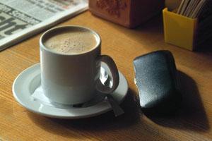 Fotografía de una taza de café