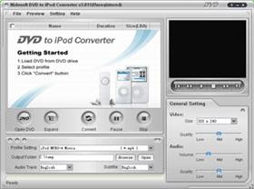 dvd to ipod converter for converting dvd to mp4, mp3, m4a for apple ipod