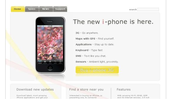 Free CSS Iphone Mobiles Web2.0 Website Template