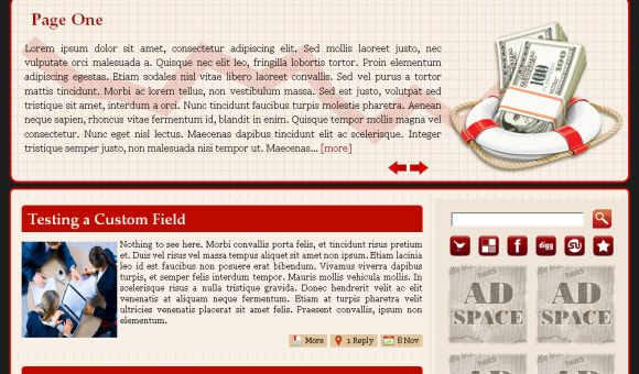 Free Rescue Company Red Wordpress Theme